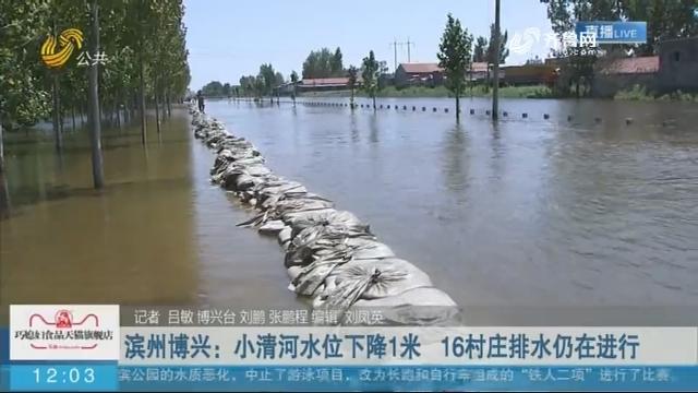 【抢险救灾在行动】 滨州博兴:小清河水位下降1米 16村庄排水仍在进行
