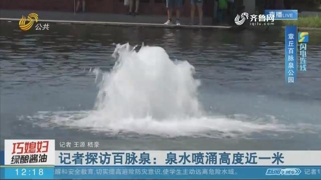【闪电连线】记者探访百脉泉:泉水喷涌高度近一米