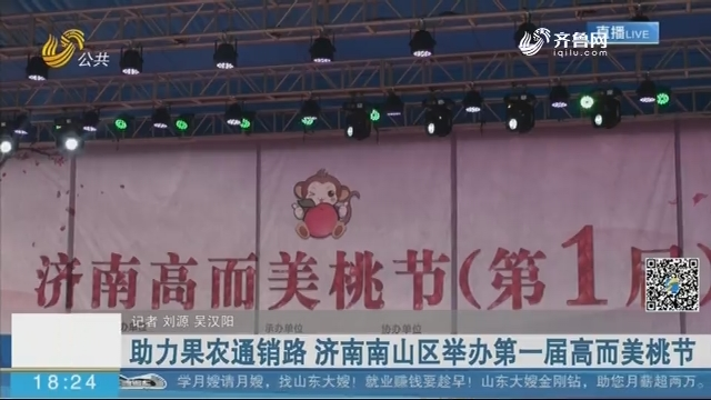 助力果农通销路 济南南山区举办第一届高而美桃节