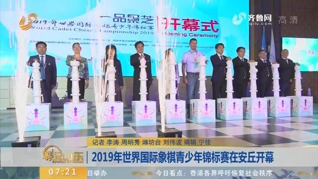2019年世界国际象棋青少年锦标赛在安丘开幕