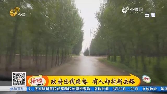 安丘:政府出钱建桥 有人却挖断去路