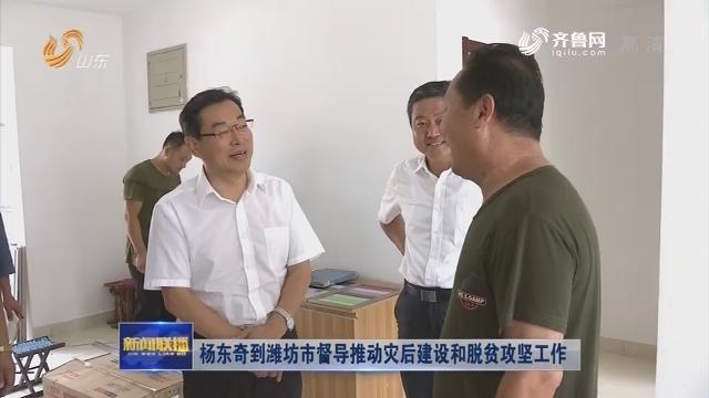 杨东奇到潍坊市督导推动灾后建设和脱贫攻坚工作