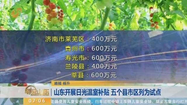 山东开展日光温室补贴 五个县市区列为试点