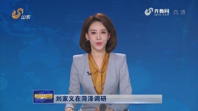刘家义在菏泽调研