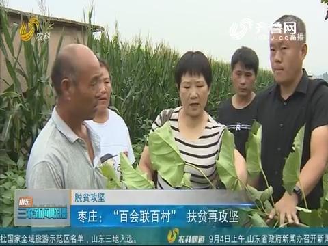 """【脱贫攻坚】枣庄:""""百会联百村""""扶贫再攻坚"""