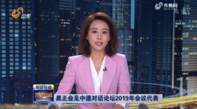 龔正會見中德對話論壇2019年會議代表