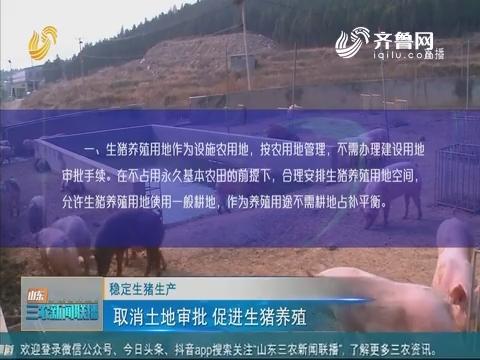 【稳定生猪生产】取消土地审批 促进生猪养殖