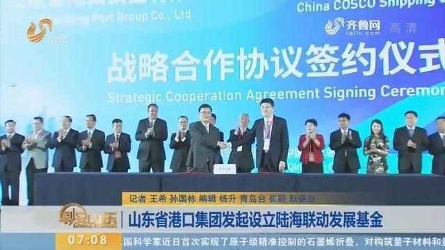 山东省港口集团发起设立陆海联动发展基金