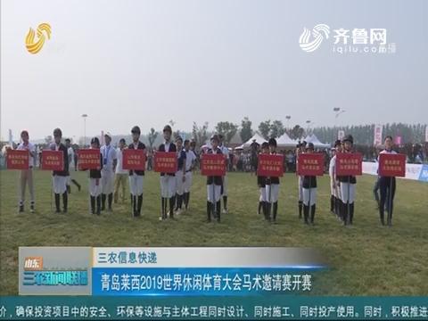 【三农信息快递】青岛莱西2019世界休闲体育大会马术邀请赛开赛