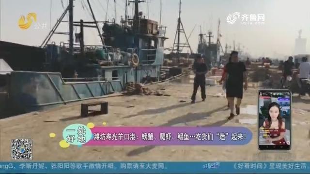 """【一处好地】潍坊寿光羊口港开海:螃蟹、爬虾、鲳鱼……吃货们""""造""""起来!"""