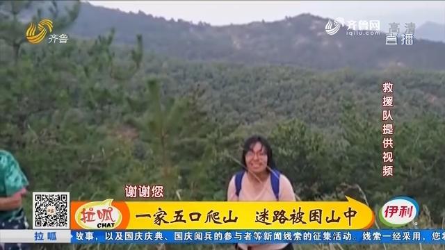 淄博:一家五口爬山 迷路被困山中
