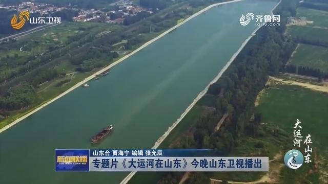 专题片《大运河在山东》今晚山东卫视播出