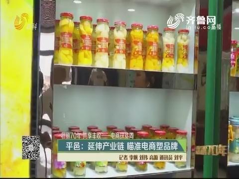 【壮丽70年 共享丰收】平邑:延伸产业链 瞄准电商塑品牌