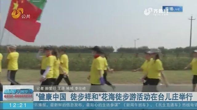 """""""健康中国 徒步祥和""""花海徒步游活动在台儿庄举行"""
