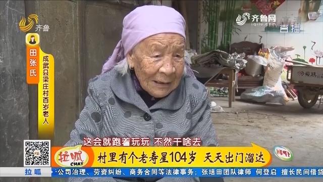 成武:村里有个老寿星104岁 天天出门溜达