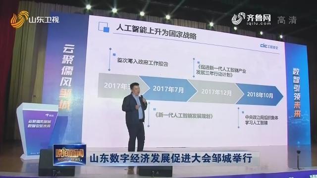 山东数字经济发展促进大会邹城举行