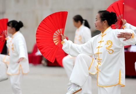 莒县第32届老年人运动会开幕