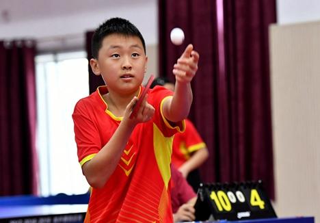 第29届全国少儿兵乓球比赛济宁开赛