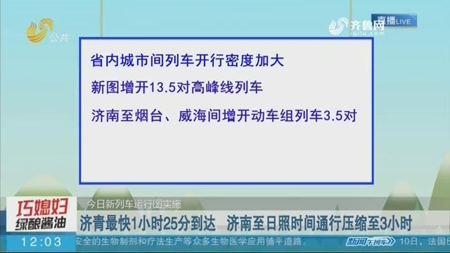 【今日新列车运行图实施】济青最快1小时25分到达 济南至日照时间通行压缩至3小时