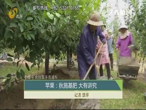 【小螺号 农技服务直通车】苹果:秋施基肥 大有讲究