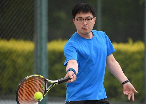 东营市垦利区第九届全民健身运动会网球比赛举行