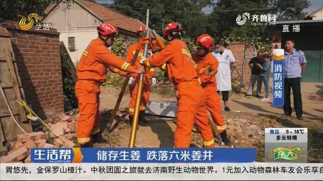 潍坊:储存生姜 跌落六米姜井