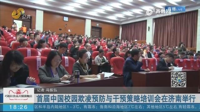 首届中国校园欺凌预防与干预策略培训会在济南举行