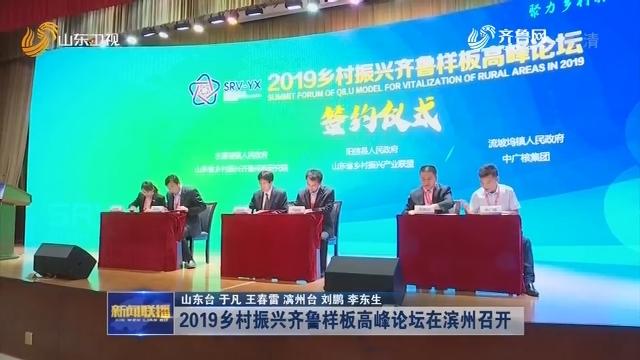 2019乡村振兴齐鲁样板高峰论坛在滨州召开