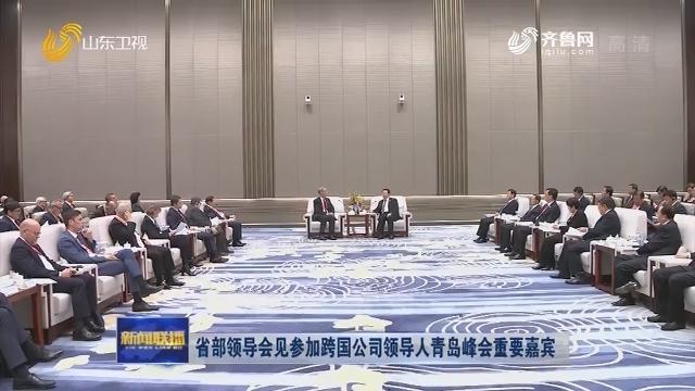 省部领导会见参加跨国公司领导人青岛峰会重要嘉宾