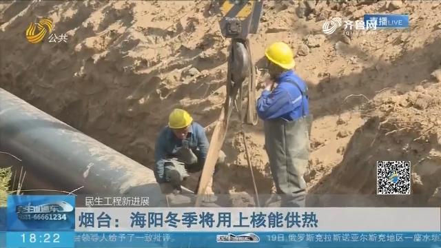 【民生工程新进展】烟台:海阳冬季将用上核能供热
