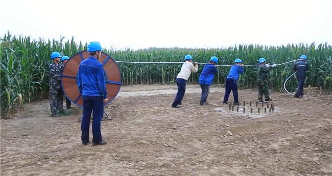夏津供电冒秋雨攻坚重点工程 推进乡村振兴样板项目