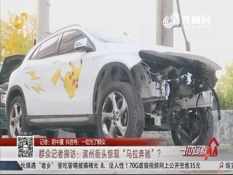 """群众记者探访:滨州街头惊现""""马拉奔驰""""?"""