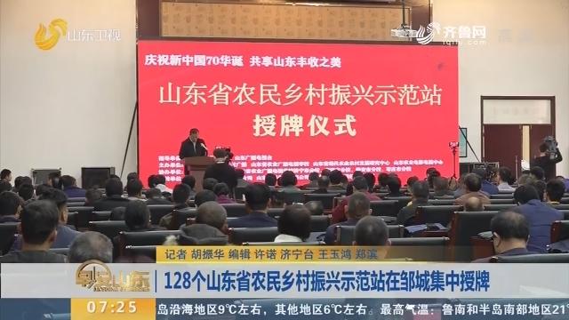 128个山东省农民乡村振兴示范站在邹城集中授牌