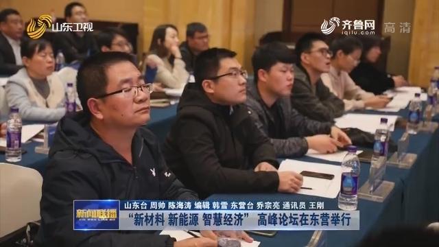 """""""新材料 新能源 智慧经济"""" 高峰论坛在东营举行"""