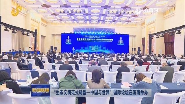 """""""生态文明范式转型—中国与世界""""国际论坛在济南举办"""