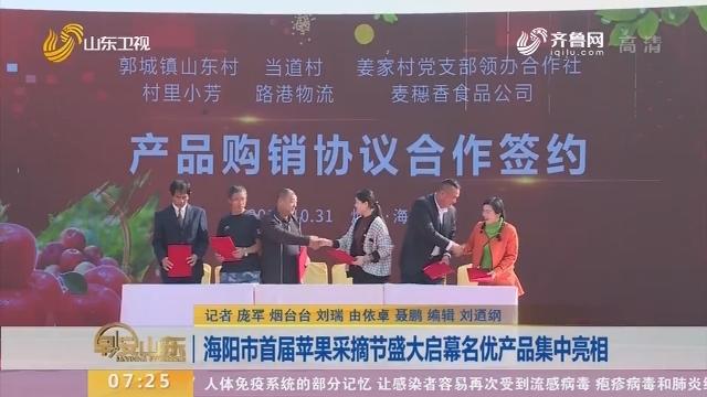 海阳市首届苹果采摘节盛大启幕名优产品集中亮相