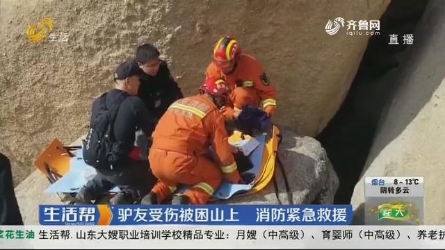 济宁:驴友受伤被困山上 消防紧急救援