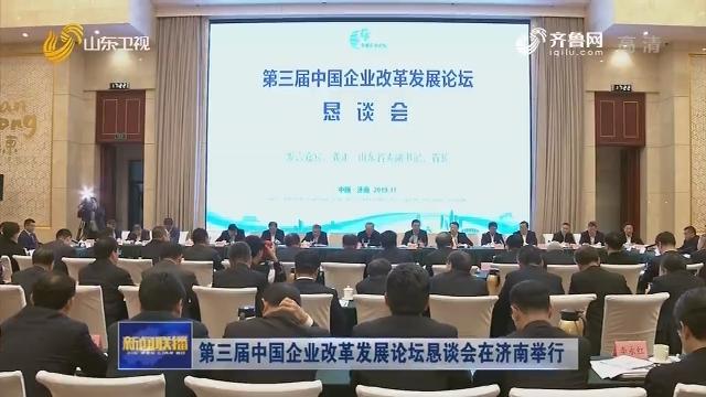 第三屆中國企業改革發展論壇懇談會在濟南舉行