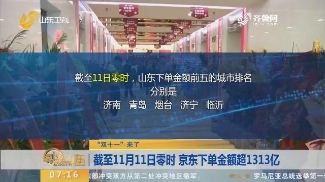 """【闪电新闻排行榜】""""双十一""""来了:截至11月11日零时 京东下单金额超1313亿"""