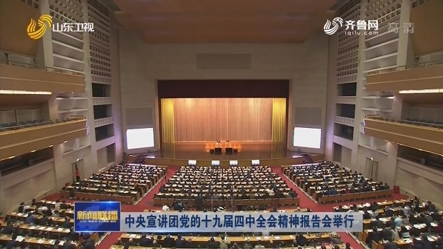 中央宣讲团党的十九届四中全会精神报告会举行