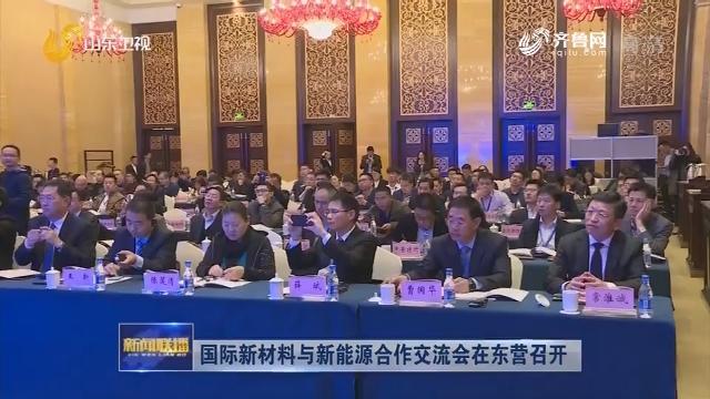 国际新材料与新能源合作交流会在东营召开