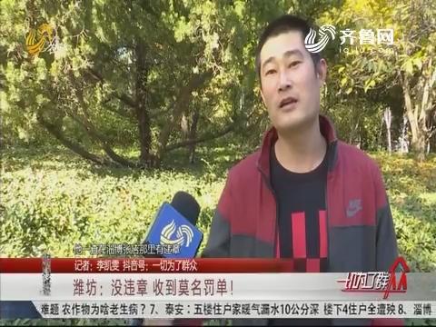 潍坊:没违章 收到莫名罚单!