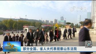 《法院在线》11-16播出《部分全国、省人大代表视察山东法院》