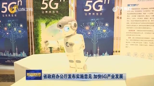 省政府办公厅发布实施意见 加快5G产业发展