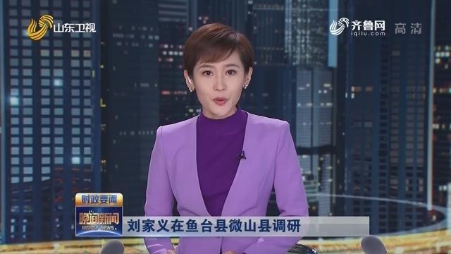 刘家义在鱼台县微山县调研