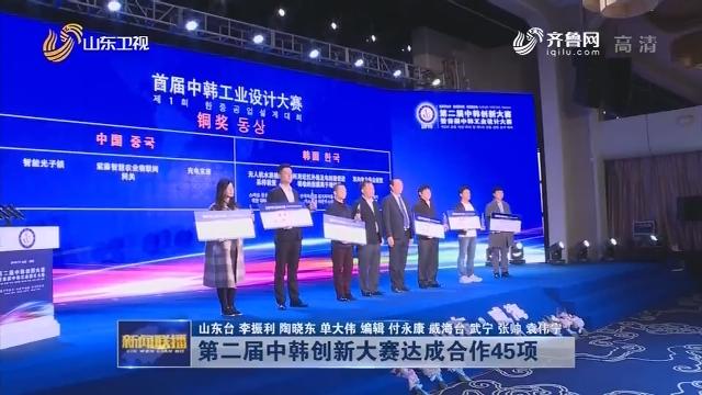 第二屆中韓創新大賽達成合作45項