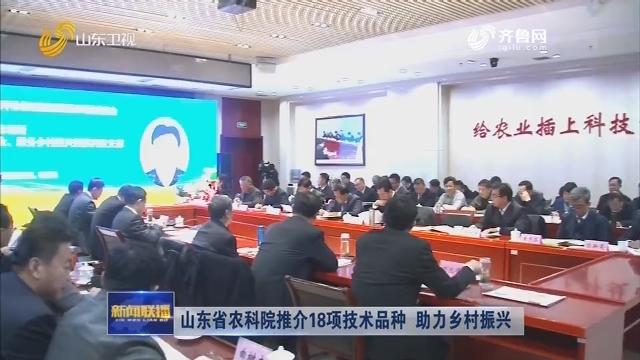 山东省农科院推介18项技术品种 助力乡村振兴