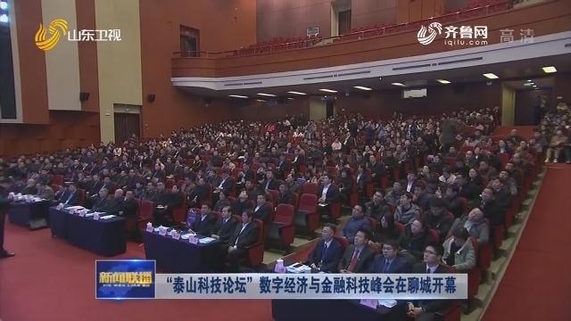 """""""泰山科技论坛""""数字经济与金融科技峰会在聊城开幕"""