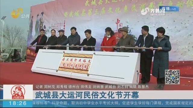 武城县大运河民俗文化节开幕
