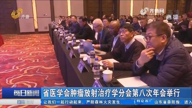 山东省医学会肿瘤放射治疗学分会第八次年会举行
